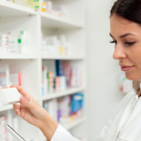 Woman in Pharmacy Header